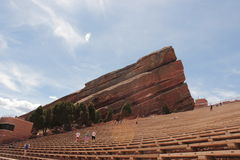 Exercising at Red Rocks Amphitheatre Royalty Free Stock Photos