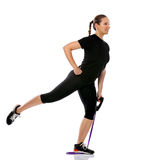 Exercising with a resistance band Stock Photos