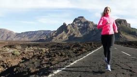 Exercising running woman athlete runner stock video
