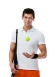 Exercising tennis player Stock Image