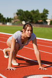 Exercising at the track Royalty Free Stock Photos