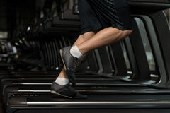 Exercising On A Treadmill Royalty Free Stock Images