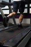 Exercising On A Treadmill Royalty Free Stock Photos