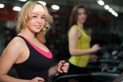 Exercising on treadmill Stock Photography