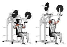 exercising Trekkrachthamer op deltoids Royalty-vrije Stock Afbeelding
