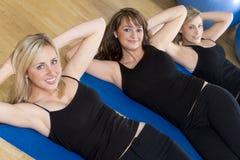 Exercising Trio stock photo