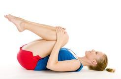 Exercising woman Stock Image