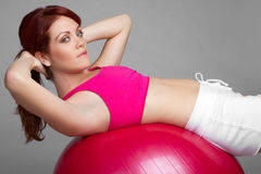 Exercising Woman Royalty Free Stock Image