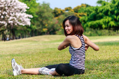 exercising woman Στοκ εικόνα με δικαίωμα ελεύθερης χρήσης