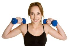 Exercising Woman Royalty Free Stock Images