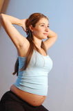 Exercising woman Stock Photography