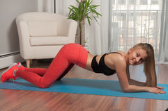 exercising woman Στοκ Εικόνες
