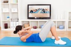 exercising woman young στοκ εικόνες με δικαίωμα ελεύθερης χρήσης