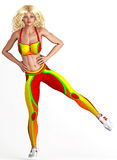 exercising woman young Στοκ Εικόνα