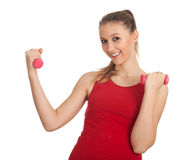 Exercising young woman Royalty Free Stock Photo