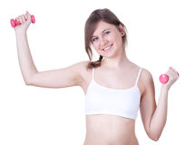 Exercising young woman Stock Photography