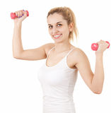 Exercising young woman Stock Image