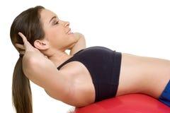 Exercitando a mulher Imagem de Stock Royalty Free