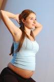 Exercitando a mulher Fotografia de Stock