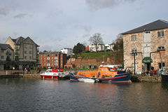 Exeter canal basin Royalty Free Stock Photography