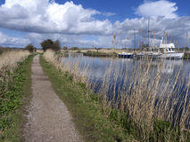 Exeter Canal south of Exeter, Royalty Free Stock Photo