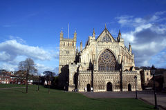 Exeter Cathedral stock image