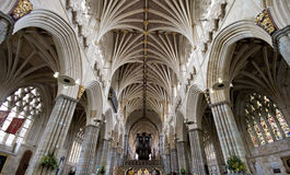 Exeter Cathedral. Ancient Cathedral of Exeter  in Devon Stock Photos