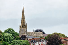 Exeter Cathedral From The Canal Stock Photography