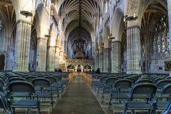Exeter Cathedral, Devon, England, United Kingdom. Interior nave of the Exeter Cathedral, Devon, England, United Kingdom stock photo