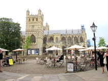 Exeter Cathedral, Devon, UK. Stock Image