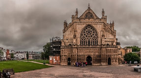 Exeter Cathedral Panorama Stock Images