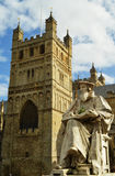 Exeter cathedral and statue Stock Images