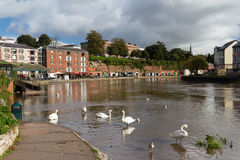 Exeter Devon England UK. Swanns at Exeter Quayside Devon England UK Europe Royalty Free Stock Images