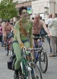 Exeter holds Naked Bike Ride. Stock Photo