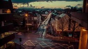 Exeter Iron Bridge timelapse at dusk Royalty Free Stock Photos