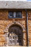 Exeter. June 02, 2018. Beautiful gate, in a medieval house, near the Exeter Cathedral. Devon, South West England, United Kingdom stock images