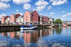 Exeter-Kais im Sommer Lizenzfreie Stockbilder