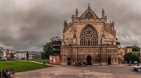 Exeter katedry panorama Obrazy Stock