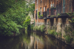 Exeter riverside homes Royalty Free Stock Photos