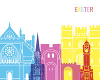 Exeter skyline pop. In editable vector file Stock Images