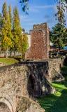 Exeter - vecchi mura di cinta Fotografie Stock