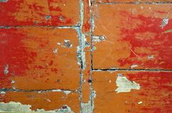 Exfoliated краска на старом деревянном поле стоковые изображения