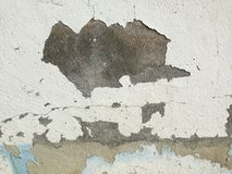 Exfoliated cement wall background. Close up to exfoliated cement wall background Royalty Free Stock Photo