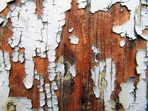 Exfoliating färg på trä Royaltyfria Foton
