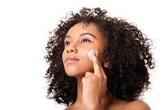 Exfoliating skincare Royalty-vrije Stock Foto