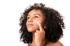 Exfoliating skincare beauty treatment Royalty Free Stock Photo