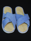 Exfoliating slippers. Ladies slippers with an exfoliating sole for beauty treatment Stock Images