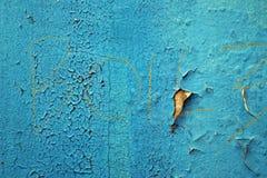 Exfoliatings Blauwe Verf 2 Stock Afbeelding