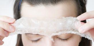 Exfoliation skin Stock Photos