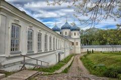 Exhaltation十字架, Yuriev修道院教会  免版税库存图片